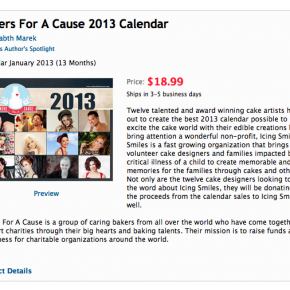 The 2013 Calendar is for sale!