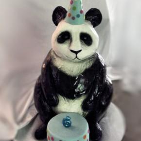 panda cake front